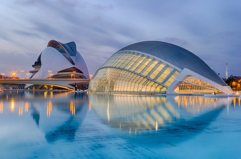 The City of Arts and Sciences is an entertainment-based cultural and architectural complex in the city of Valencia, Spain. It is the most important modern tourist destination in the city of Valencia.